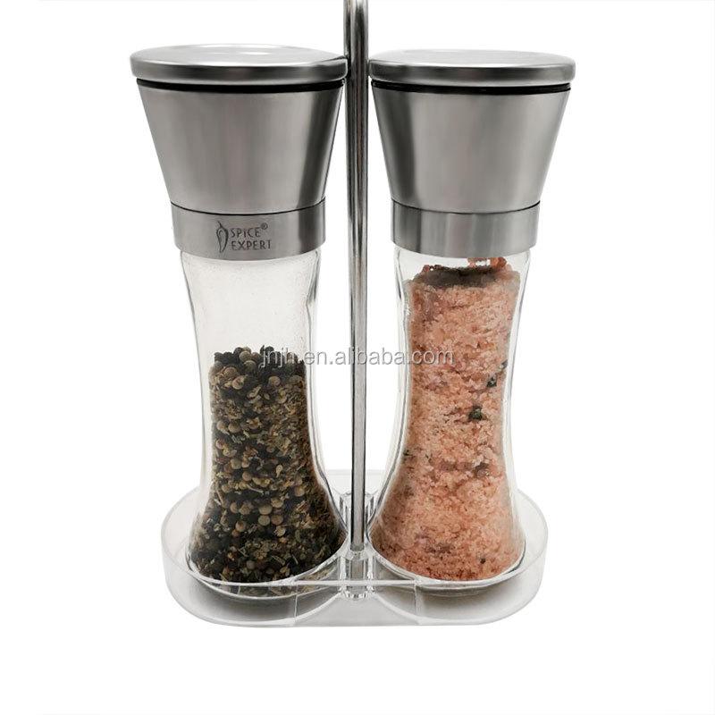 Оптовая продажа из нержавеющей стали стекло специй перец Мясорубка набор из 2
