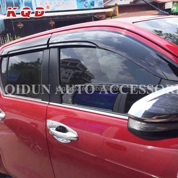 Car exterior accessories parts injection window sun visor rain guard door  visors for toyota hilux revo 04306a718a7
