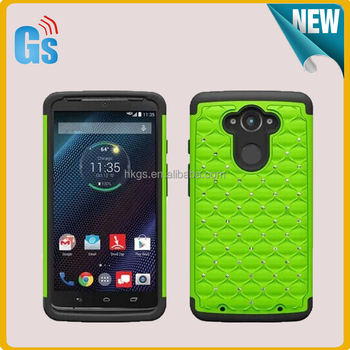 big sale b5526 ae078 Combo Design 2 In 1 Diamond Case For Motorola Droid Turbo Xt1254 Back Cover  - Buy For Motorola Droid Turbo Cover,For Motorola Droid Turbo Xt1254 Back  ...