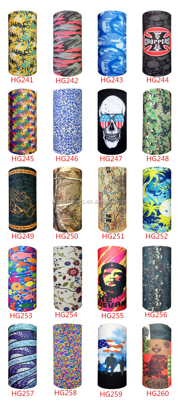 wholesale Seamless Tube Multifunction skull bandana