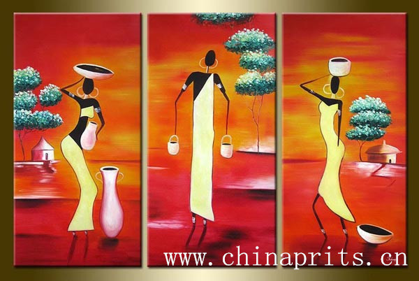 2014 Hot Order Handpainted Living Room Man Picture On Canvas