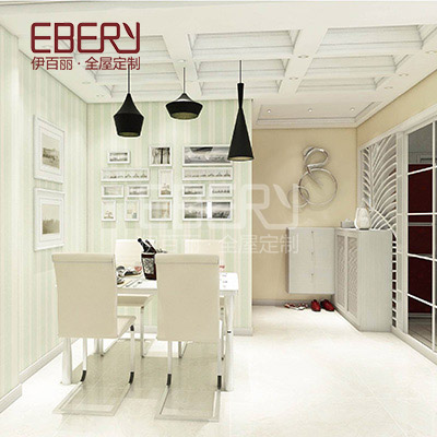 Dinning room furniture design wood shoes cabinet with louvre door