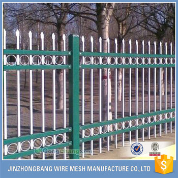 euro style free standing metal palisade fence wrought iron fence panel hot sale