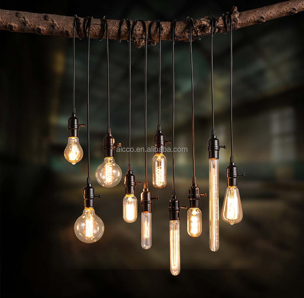 Decoratieve opknoping hanglamp vintage industri le loft edison led lamp hanger restaurant bar - Licht industriele vintage ...