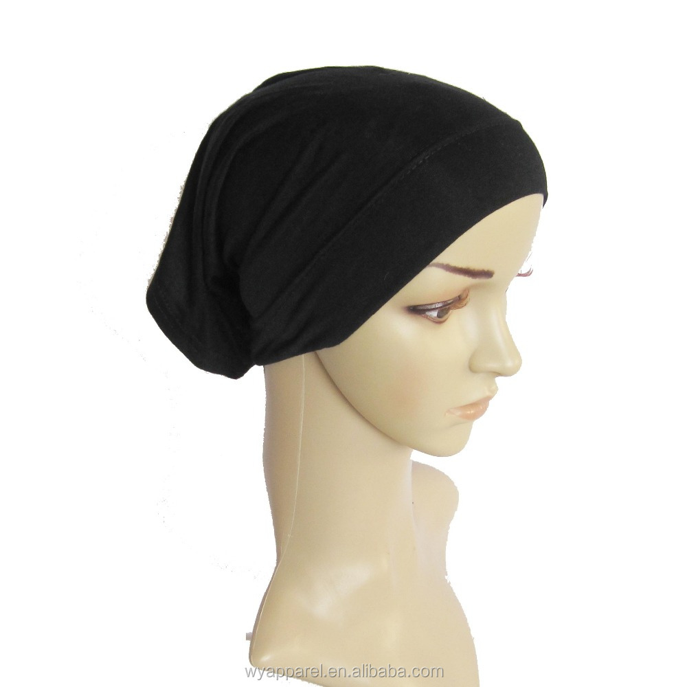 Wholesale 2018 collestion design colors modal fabrics hijab cap head scarf muslim women modal hijab jersey tube hijab cap
