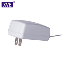 XVE Super high quality EU US UK AU Wall Mount Plug 24V 0.75A ac/dc Power Adapter With CE UL