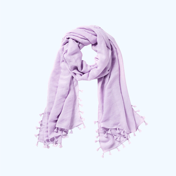 Monogram Plain Tassel Edging Lana Women Scarf