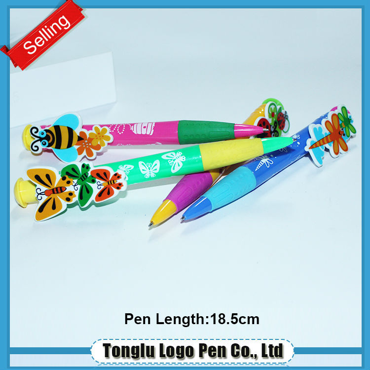 New products 2015 stationery european pen cute ball pen for kids