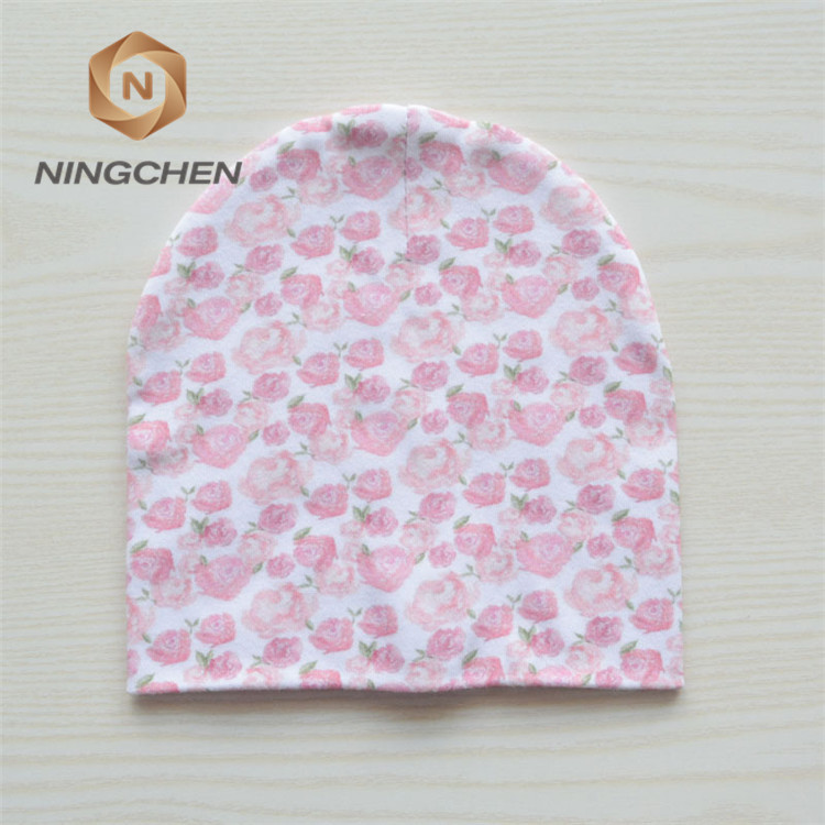 New Design Custom 100% Cotton Kids Knitted Hats/newborn baby cotton cute soft cap