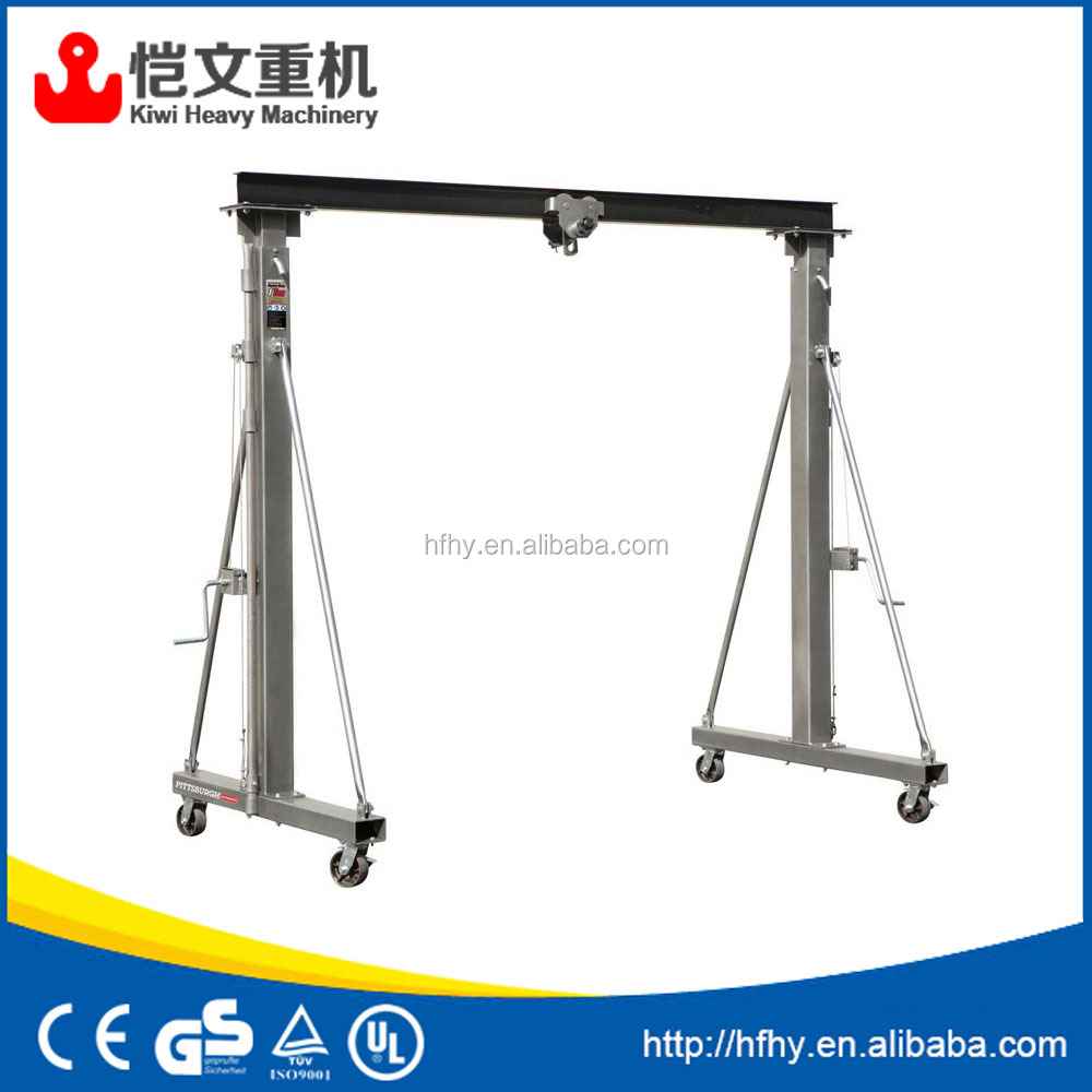 best price 1000kg mini mobile gantry crane 1 ton with portable electric hoist