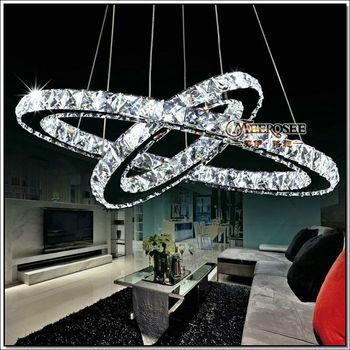 Hot 2 Anneaux Cristal Led Lustre Pour Haut Plafond Md8825 Buy Haut