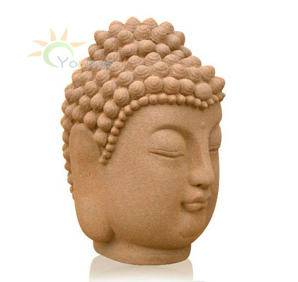 High Temperature Ceramic Hand Painted Craft Decorative Ceramic Large Buddha Head Figures