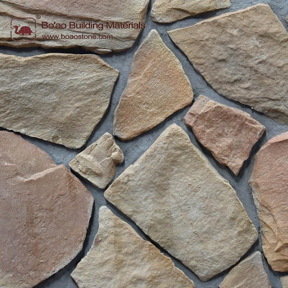 Artificial stone for interior decoration. Interior decoration of walls with artificial stone 97