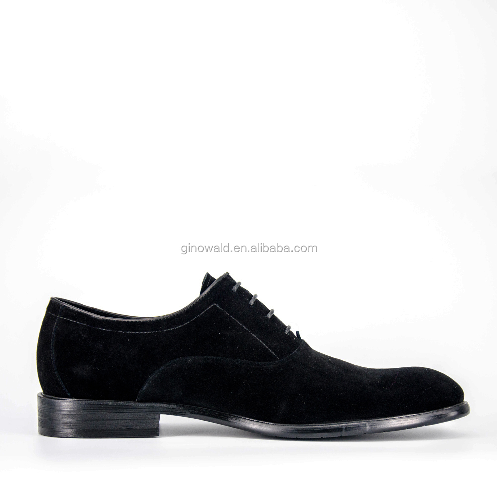 High designer mens cow end shoes black suede formal zzqxA6w