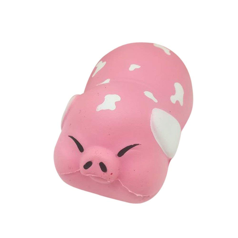 USHOT Clearance Squishy Cute Pig Toast Scented Charm Slow Rising Squeeze Stress Reliever Toy B