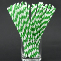Indonesia fda christmas drinking paper straws green kraft biodegradable paper straw logo