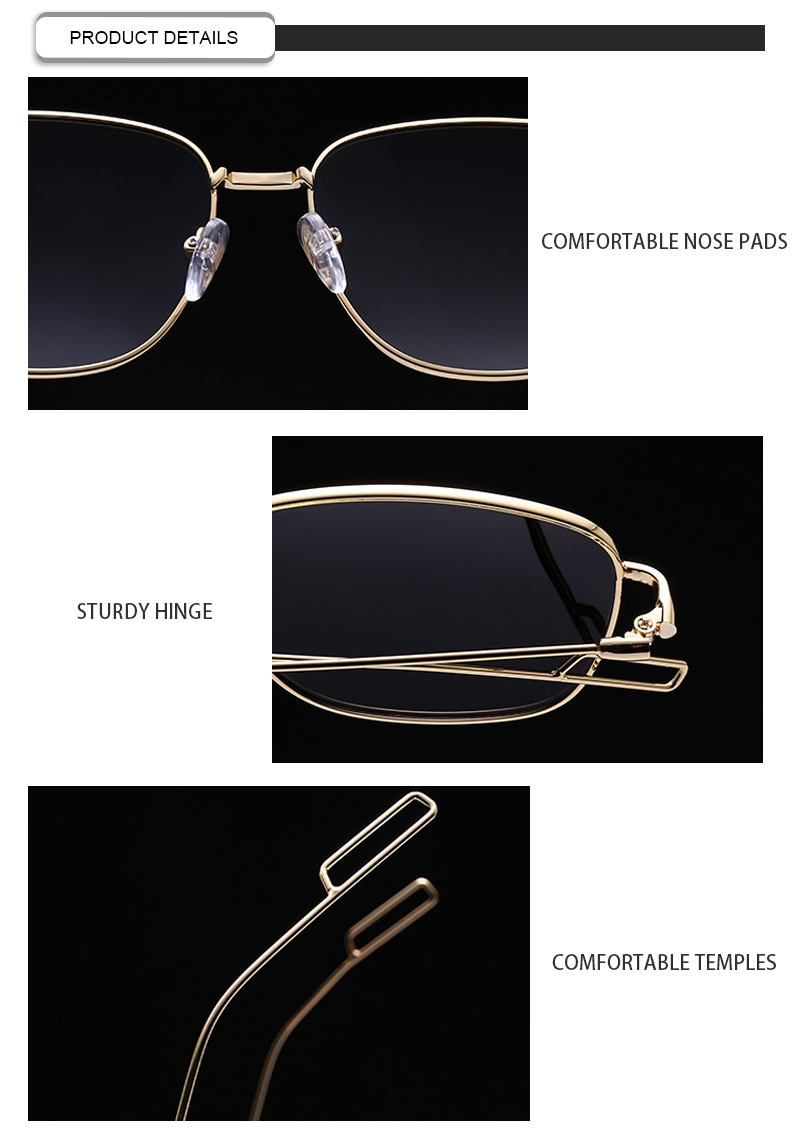 Custom Logo 2019 Small Square Polarized Men Driving Women Sunglasses