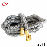 Farm Irrigation Hoses New 25' Expanding Pipe Drip Irrigation Expandable Garden Hose Gray