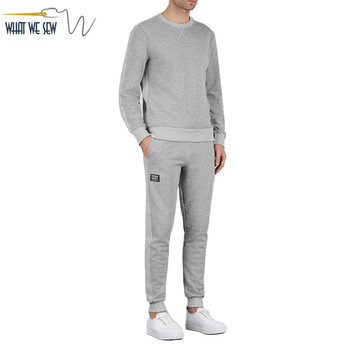 Men's Supply Cotton Blend Sweat Suit Custom Blank Jogging Suit