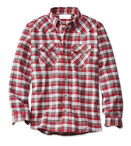 men's cowboy check long sleeve shirt