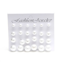 Ocean jewelry store fashion 1 card pearl earrings for women ( min order $10 mixed order )
