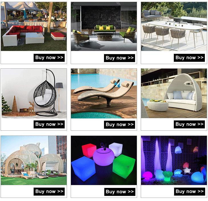 Custom made terrace contemporary  modern china aluminum leisure luxury outdoor garden furniture