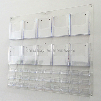 Factory Price Acrylic Card Holder Wall Mount Acrylic