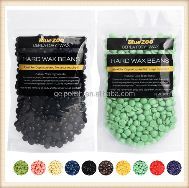 Hair removal wholesale beans wax Black color honey stripless wax