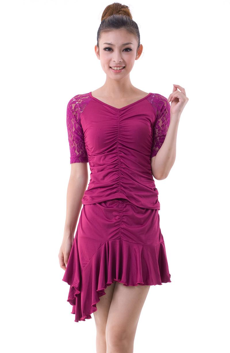 ce50dbe95 Get Quotations · Latin dance dress lace folding square dance clothes dance  clothes tango ballroom dress for women dance