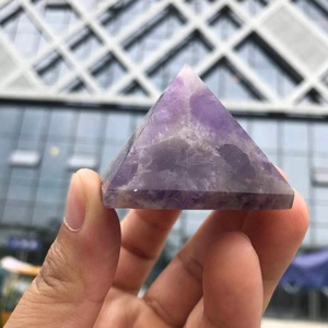 Wholesale natural fantasy amethyst pyramid german christmas pyramid quartz crystal pyramid for sound therapy