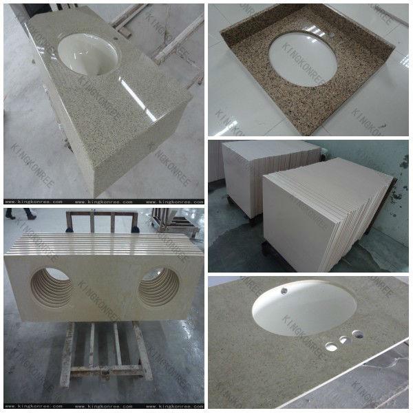 White Sparkle Quartz Stone Countertop Solid Surface Countertop Slabs Man Made Granite