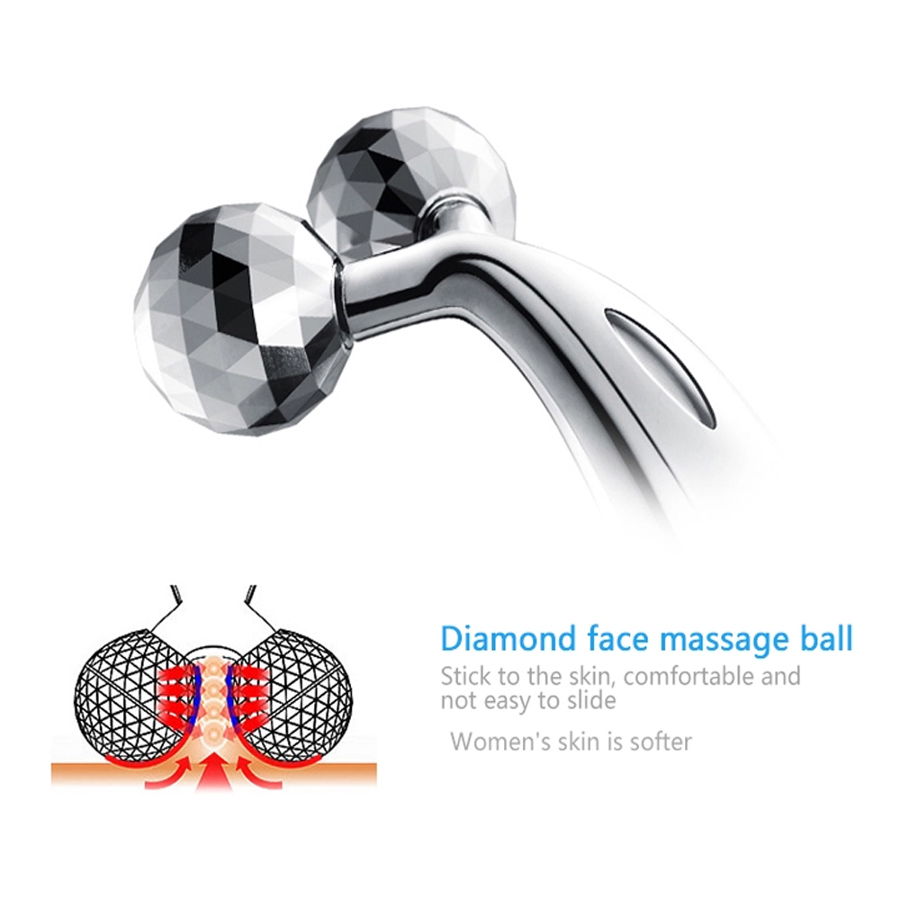 Ручной Электрический вибрирующий инструмент для красоты ролик для лифтинга лица 3D V массажер для лица