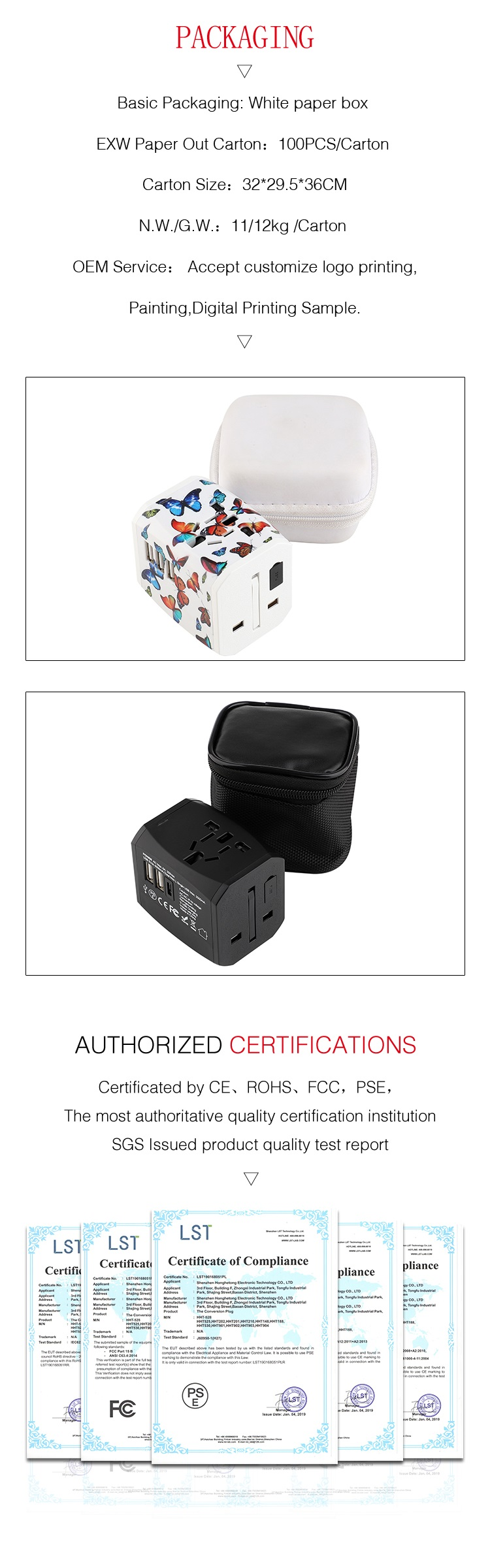 2019 new product 5v4000mA 3 usb wall charger universal ac socket travel adapter with BS8546 CE FCC ROHS PSE certificates