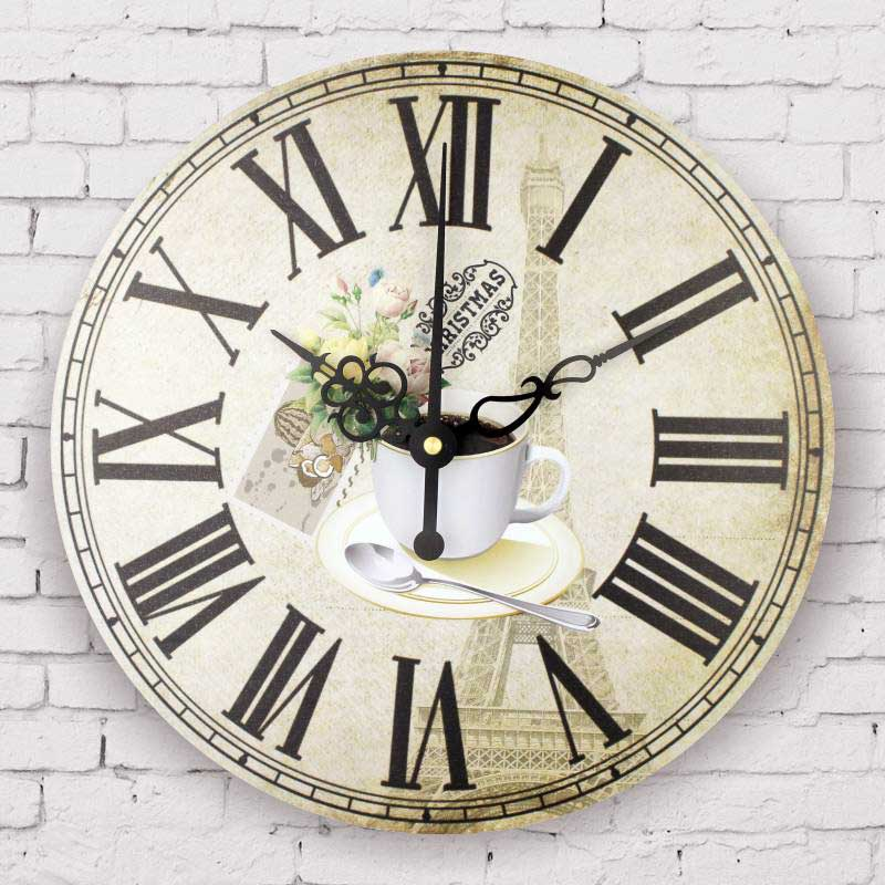 fashion coffee decorative wall clock kitchen clocks modern home decoration quartz wall watch. Black Bedroom Furniture Sets. Home Design Ideas