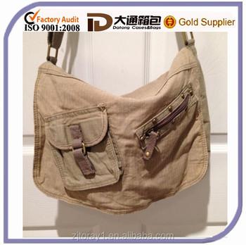 Beige Girls Cotton School Book/shoulder Bag With Long Strap - Buy ...