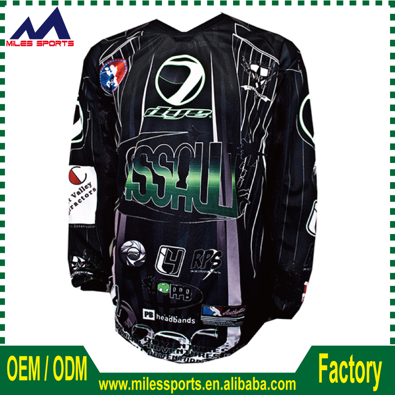 2016 team paintball uniform dye sublimation paintball jersey