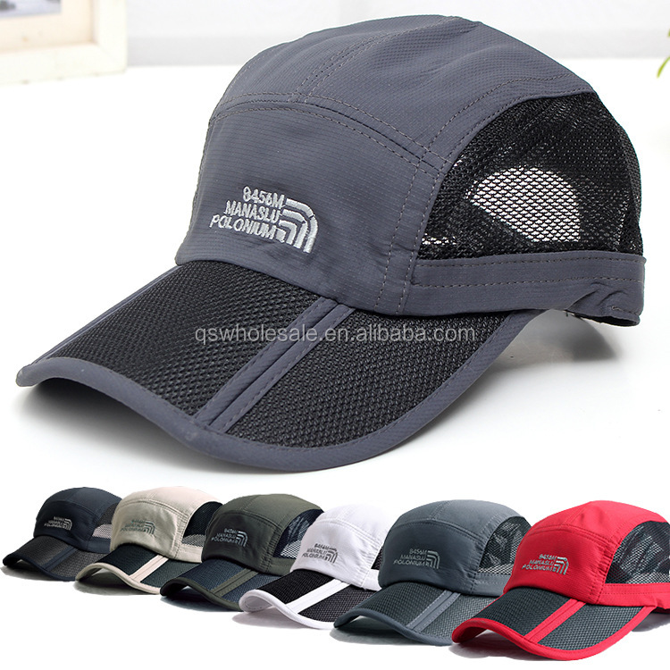 Outdoor quick-dry baseball foldable and water proof visor <strong>cap</strong>