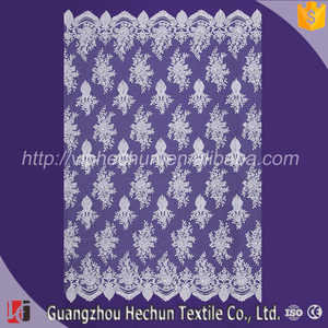 HC-9934 Hechun Lace Textil Product guipure Sew Small Stones Lace Fabric for wedding women dress