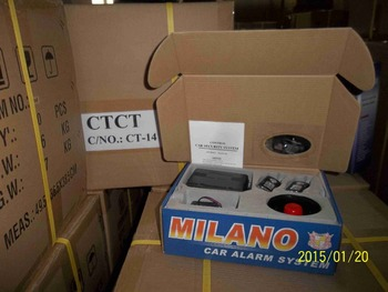 factory cheap price one way milano car alarm system