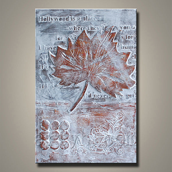 hot maple leaf canvas painting
