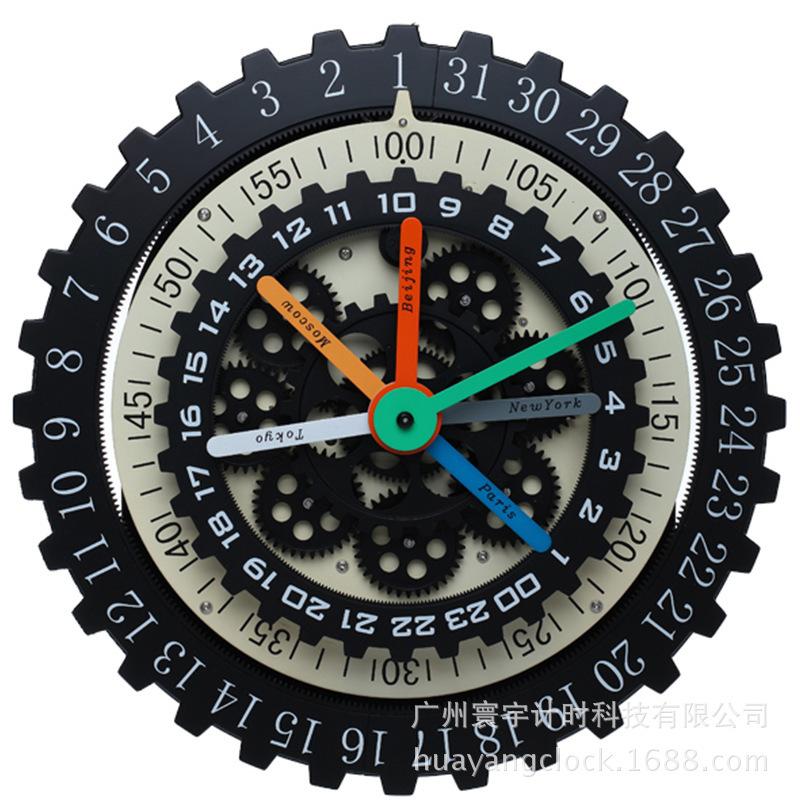 nouveau mode personnalis horloge murale engrenage horloge horloge murale en m tal fuseaux. Black Bedroom Furniture Sets. Home Design Ideas