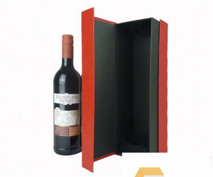 Professional fancy gift boxes leather gift wine bottle gift box