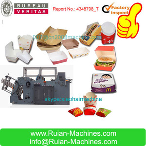 ake-away Paper Food Box Container/Dish Tray Making Machine Price List Cost