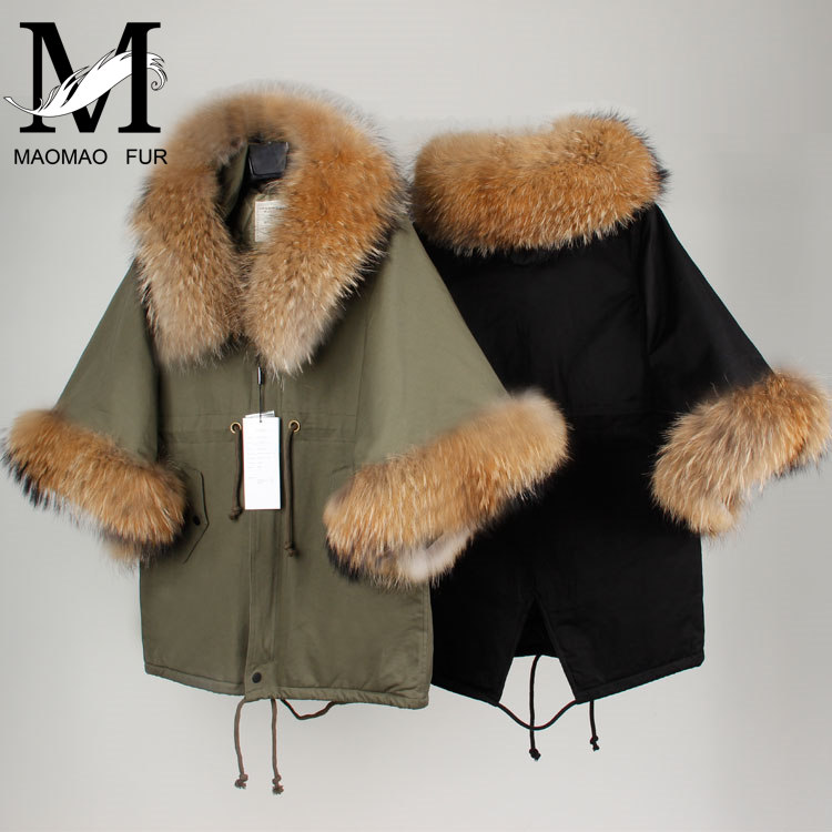 New Winter Coat Women Real Raccoon Fur Overcoat Fur Coat Women 2017