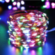 New 10M 100LED 3AA Battery Powered Copper Wire String Lights Indoor Outdoor Fairy Led Light for Xmas Garland Party Wedding