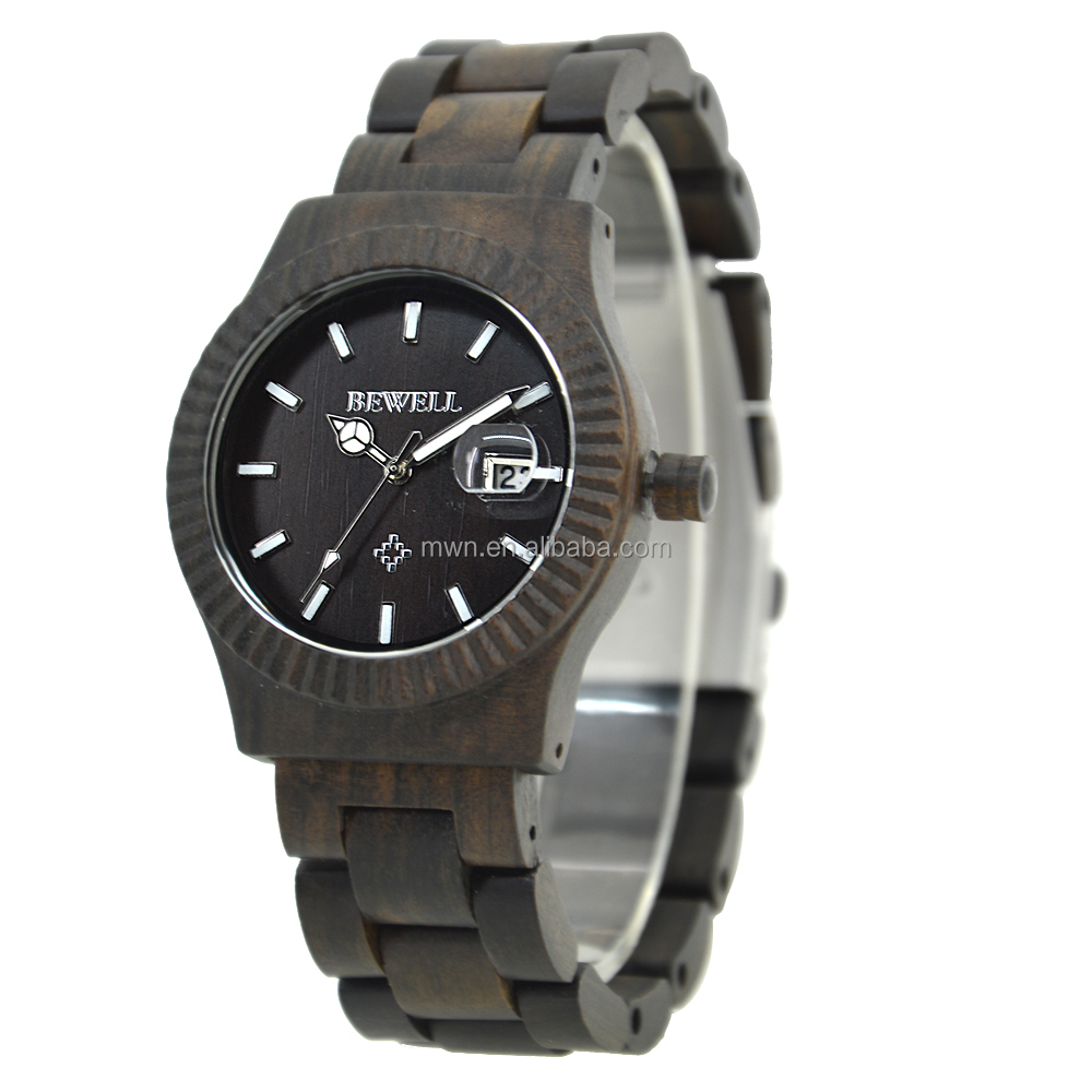 Luxury Quartz men Bewell wood Wrist Watches Private label DIY Your Own Custom Logo, As your request