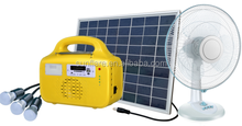 High powered mini solar lighting kit can support TV and fan for home use