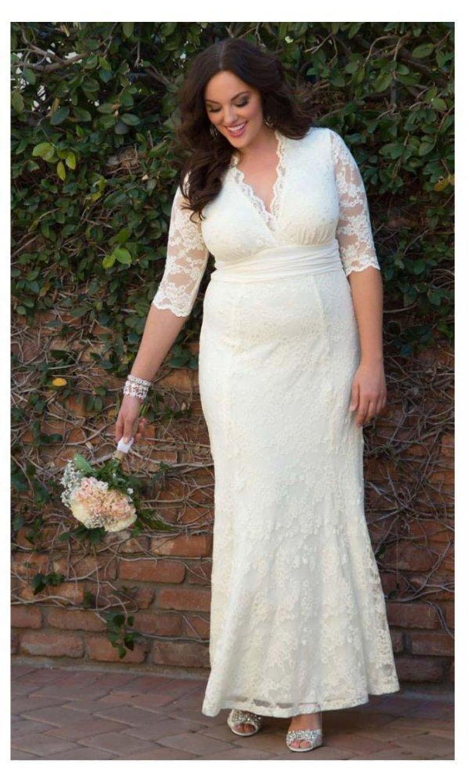 Hippie wedding dress plus size
