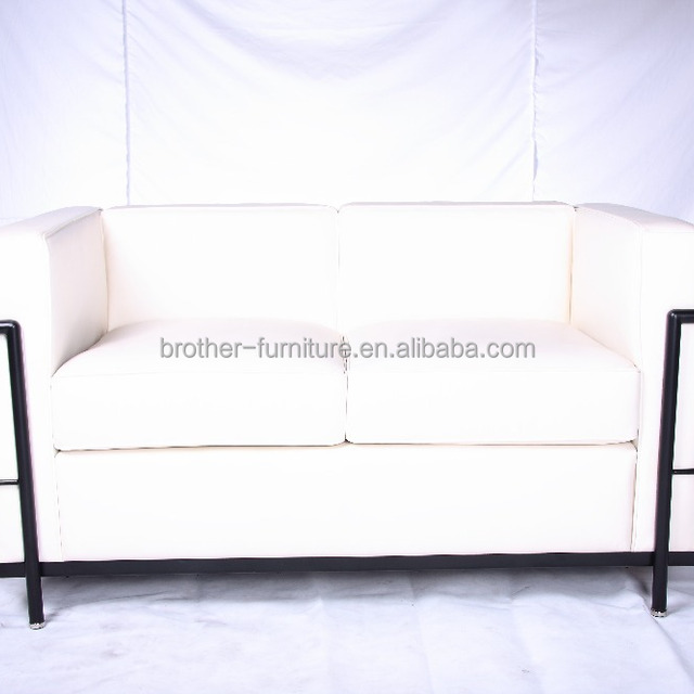 Mid Century Modern Furniture Designer Furniture Reproductions Le Corbusier  Petite Sofa LC2