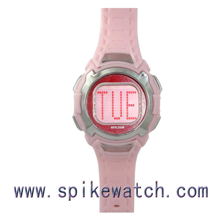 Hot wholesale popular in Europe and America market sport digital ladies cheap simple wacth